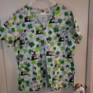 Women's Saint Patrick's Day Scrub Top